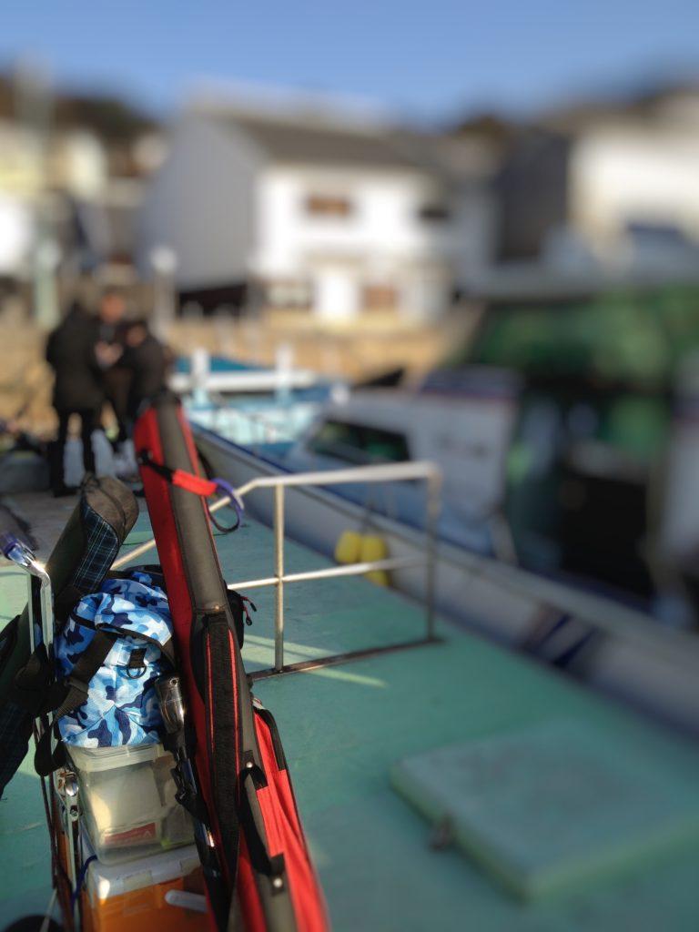 渡船とキャリーカート
