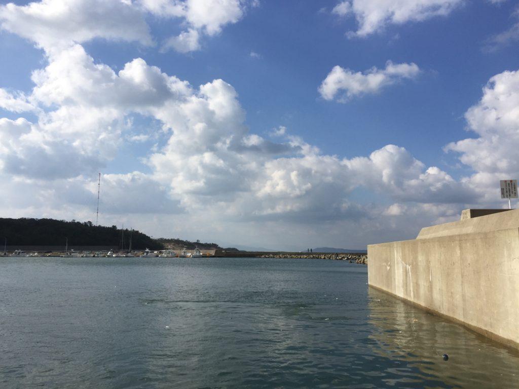 漁港で爆風アジング