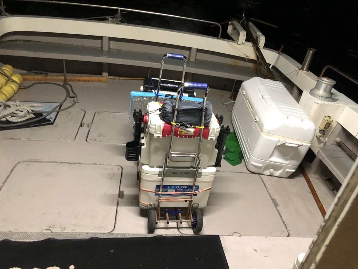 渡船の釣り用2輪カート
